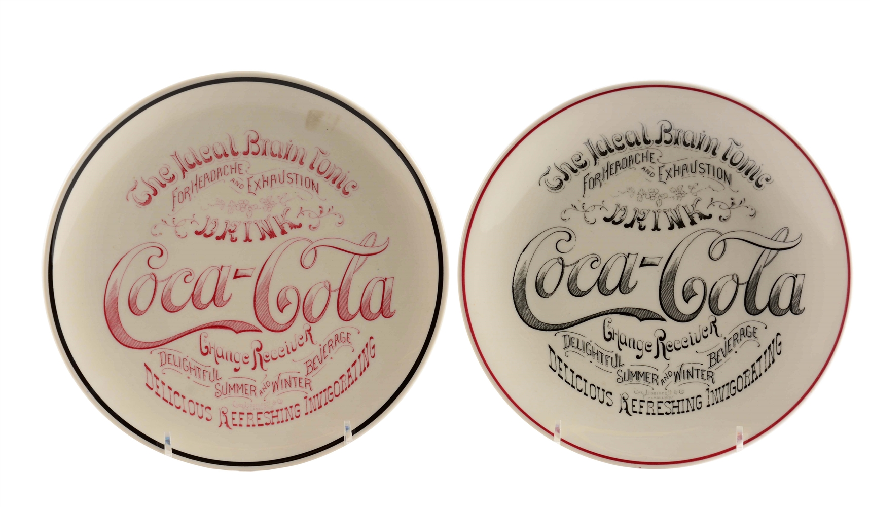 Pair Of Coca - Cola Change Plates.