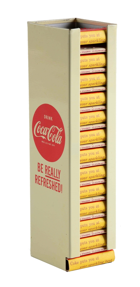 Coca - Cola Match Holder With Matches.