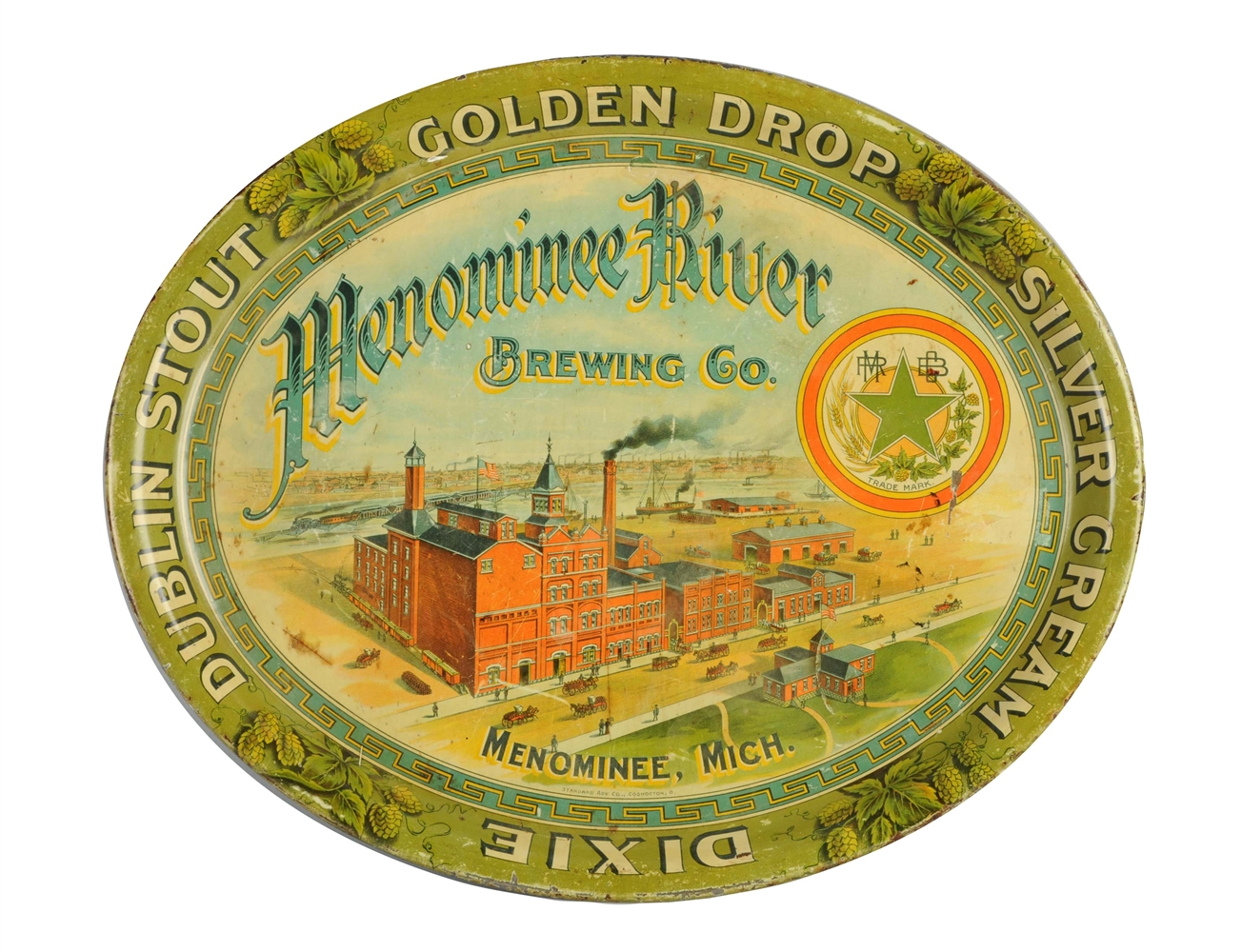 Menominee River Brewing Co. Serving Tray.