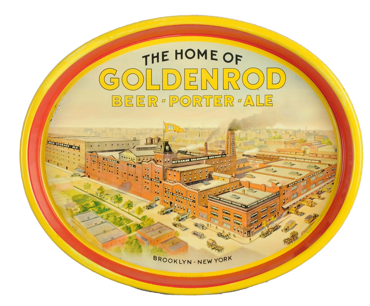 Goldenrod Beer Brooklyn New York Serving Tray.