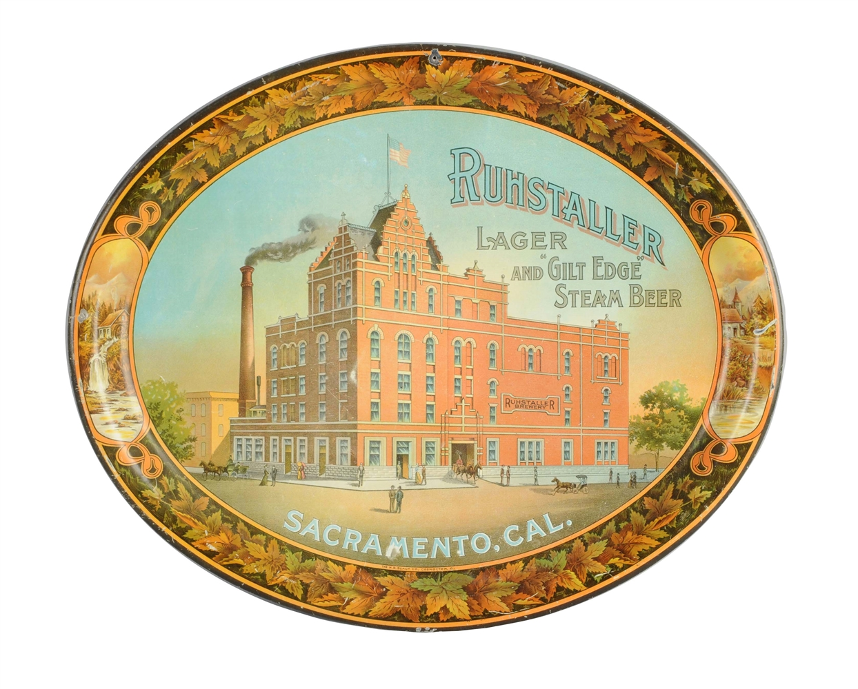 Ruhstaller Lager Brewery Steam Beer Serving Tray.