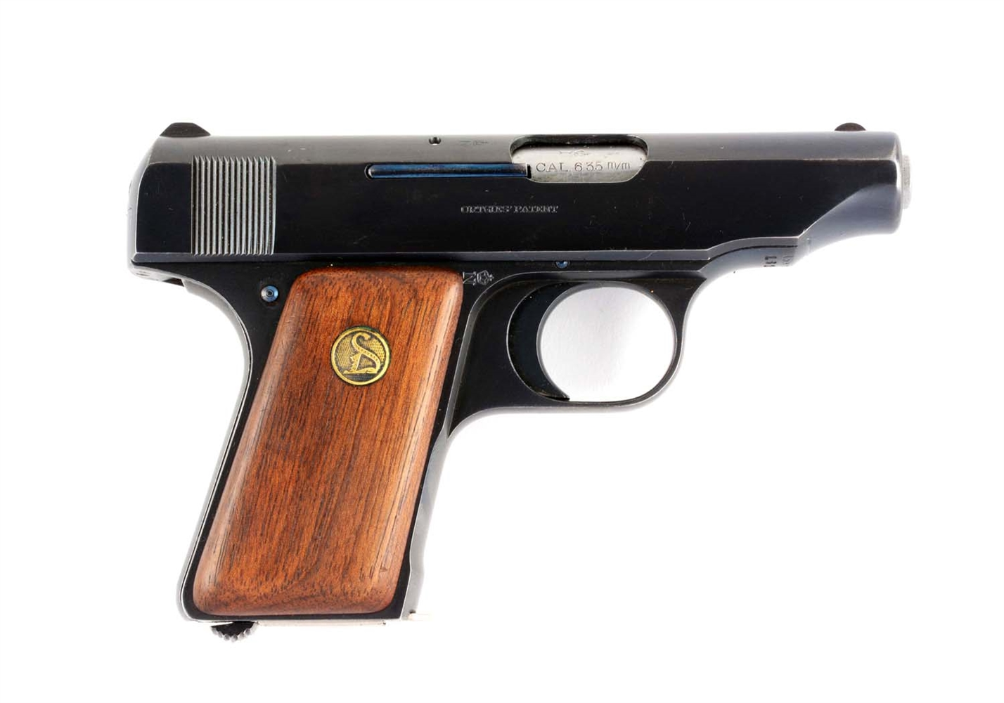 (C) Ortgies 6.35 German Semi-Automatic Pocket Pistol.