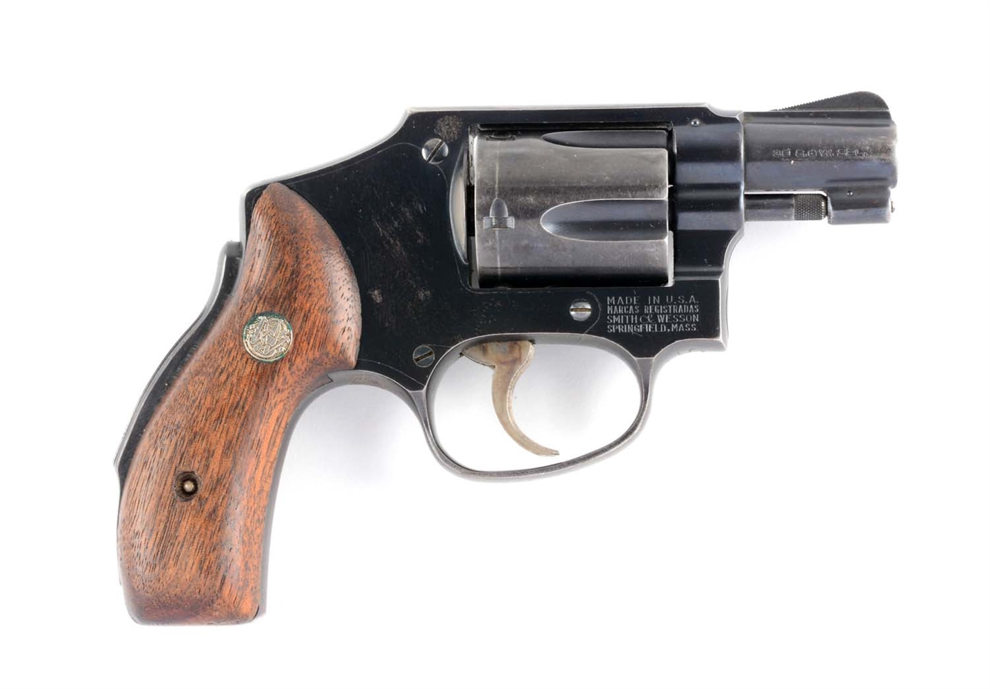 (C) S&W Model 40 Centennial Double Action Revolver.