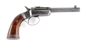 (C) Stevens Off-Hand Target No. 35 Single Shot Pistol.