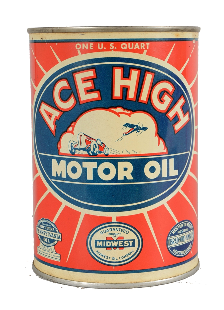 ACE HIGH Motor Oil Quart Can.