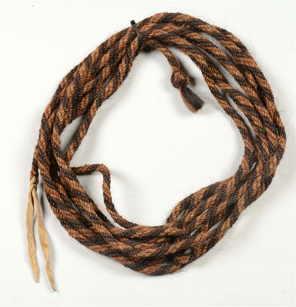 Vintage Braided And Twisted Horsehair Mecate.