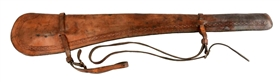 Leather Marked Rifle Scabbard.