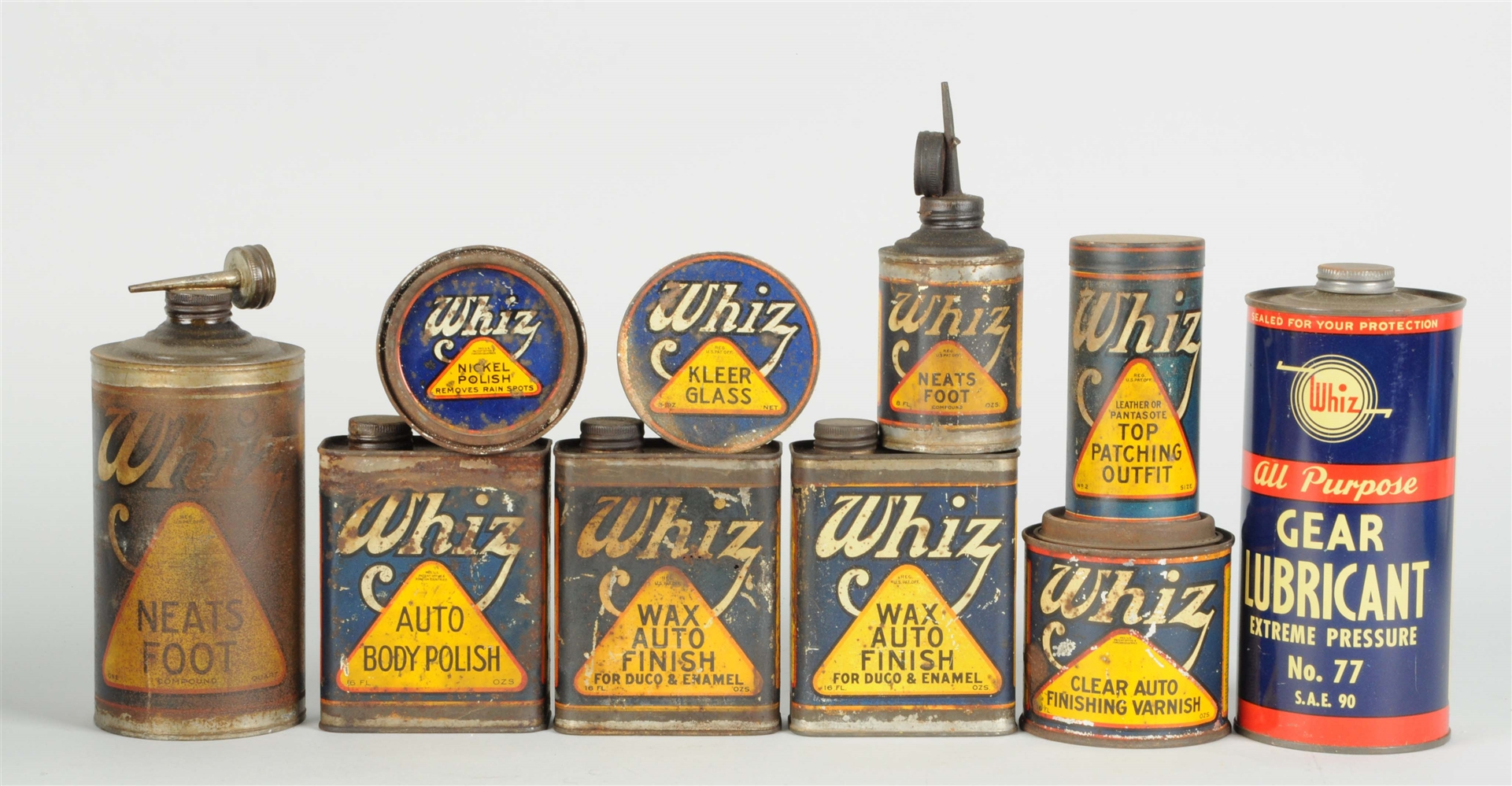 Lot of 10:  Whiz Cans.