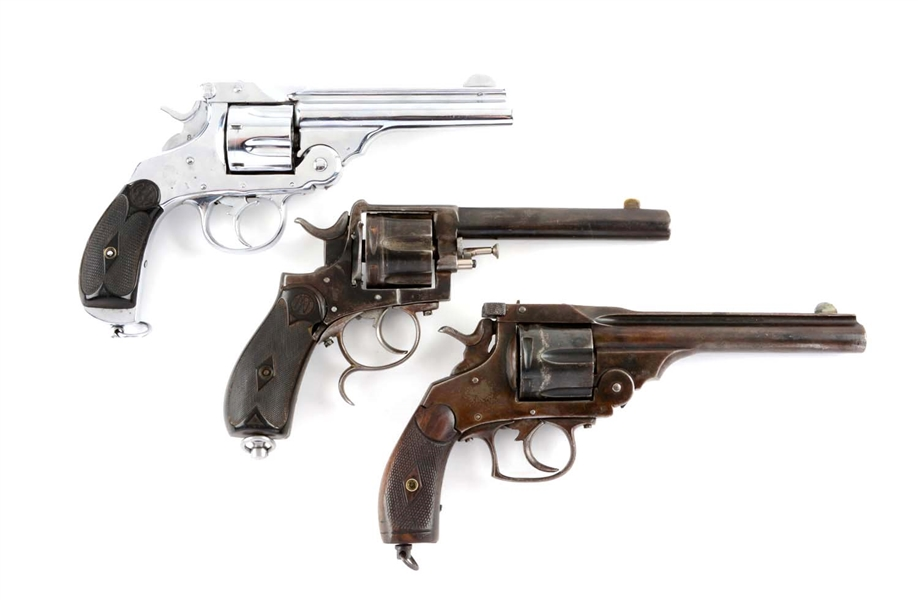 Lot Detail - (A) LOT OF 3: FOREIGN S&W STYLE NAVY DOUBLE ...
