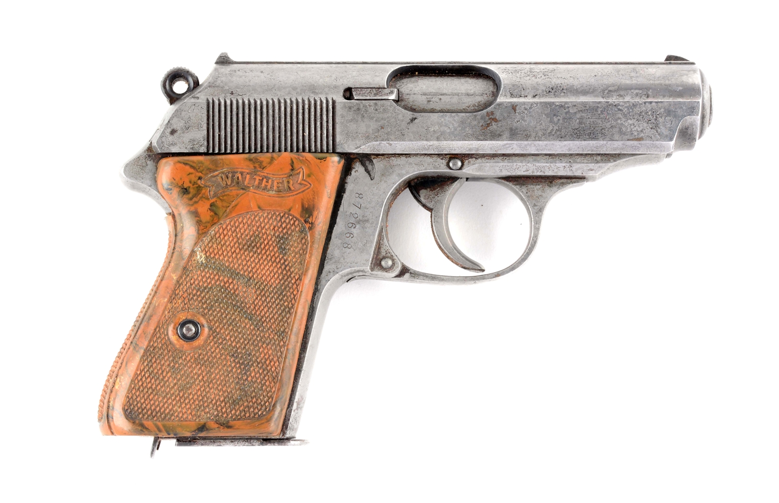 (C) Pre-War Walther Model PPK Semi-Automatic Pistol.