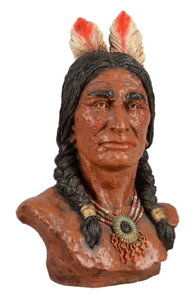 Bust Of Native American.