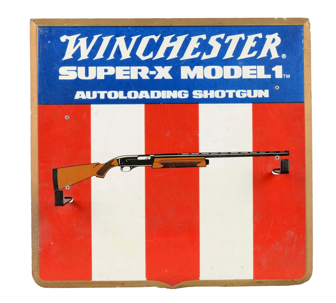 Winchester Super-X Model 1 Autoloading Shotgun Advertising Display.