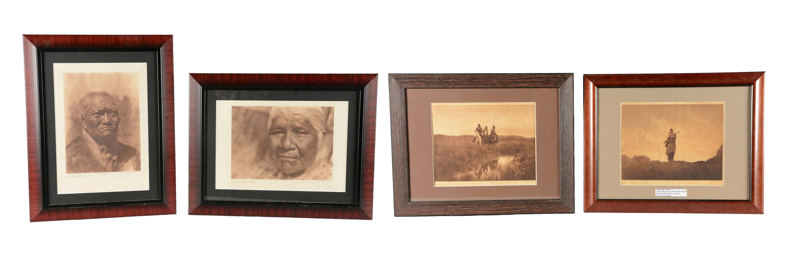 Lot Of 4: Edward S. Curtis Photogravures.
