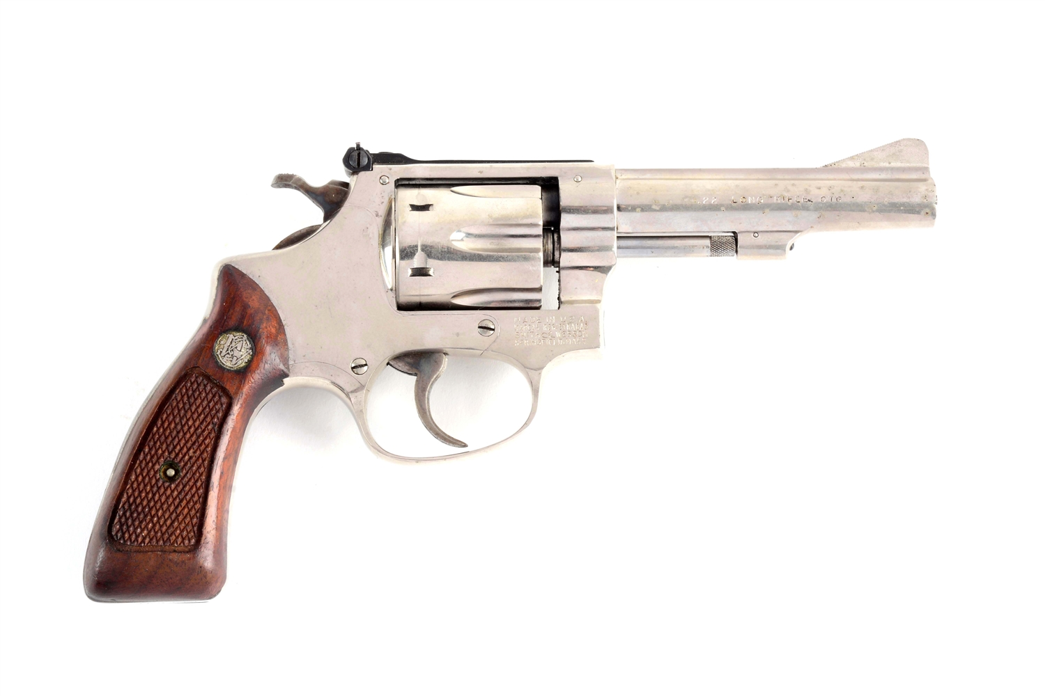 (M) S&W Model 34-1 Double Action Revolver.