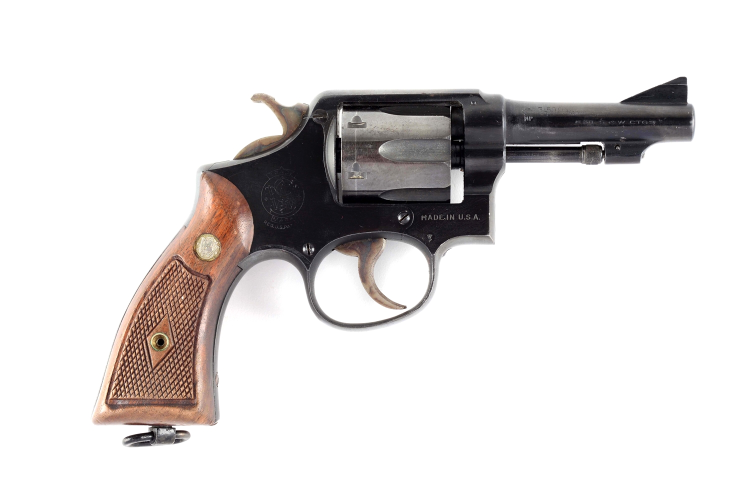 (C) London Dealer Marked Converted S&W Victory Model Double Action Revolver.