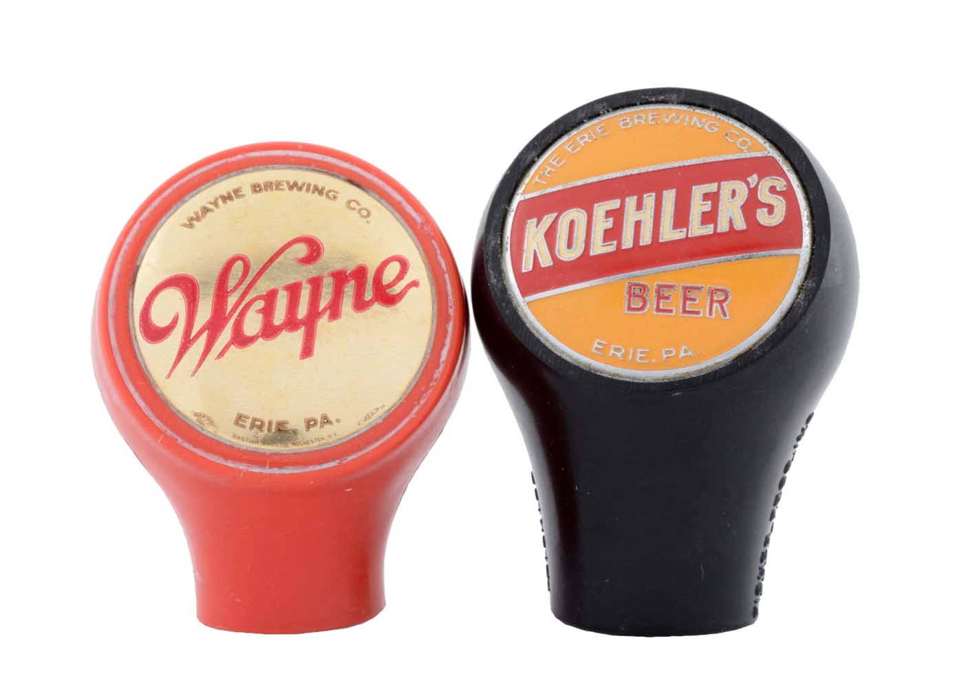 Lot Of 2: Koehlers & Wayne Beer Tap Knobs.