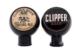 Lot Of 2: Clipper Beer Tap Knobs.