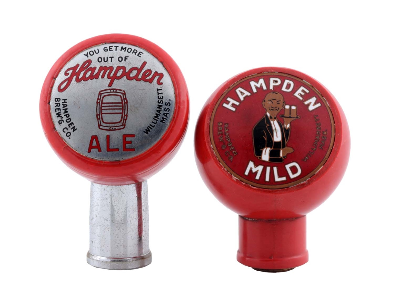 Lot Of 2: Hampden Beer Tap Knobs.