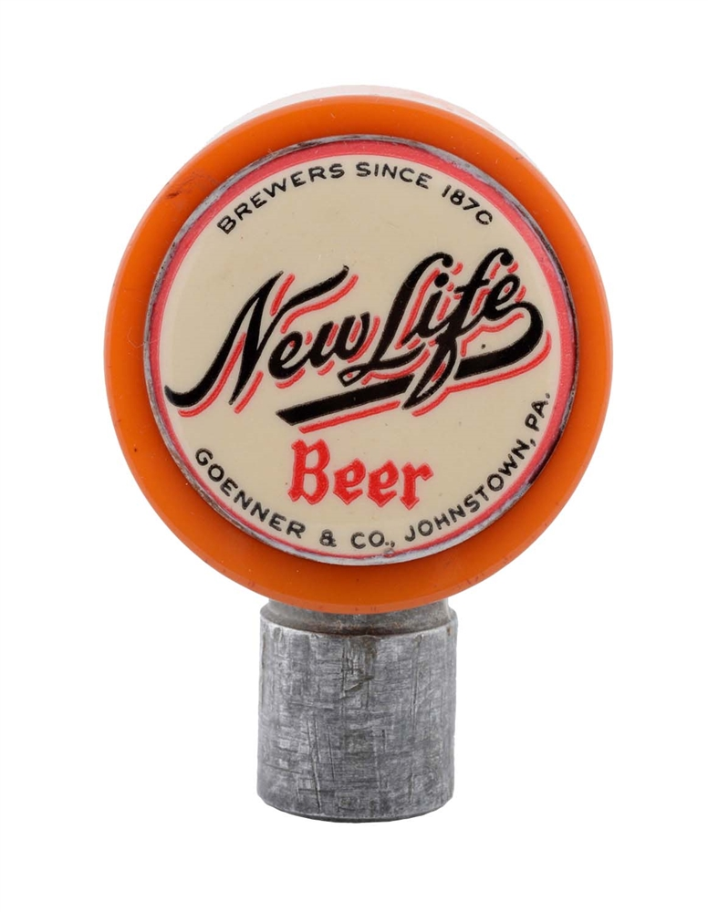 Goenner & Co. New Life Beer Tap Knob.