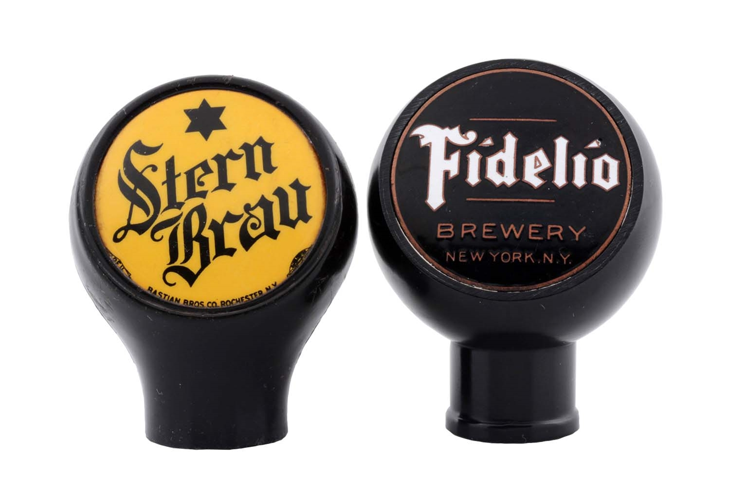 Lot Of 2: Stern Brau & Fidelio Beer Tap Knobs.
