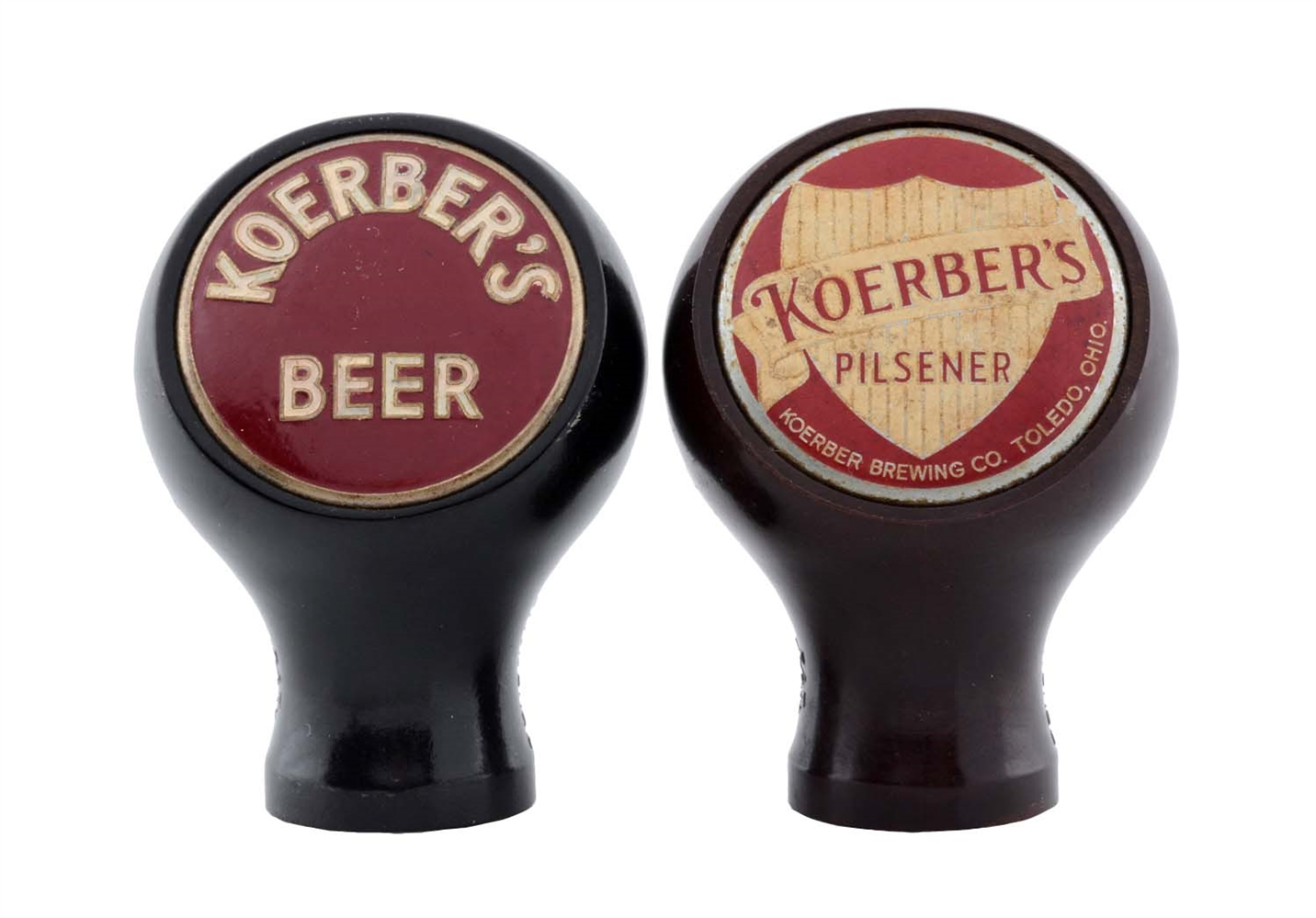 Lot Of 2: Koerbers Beer Tap Knobs.