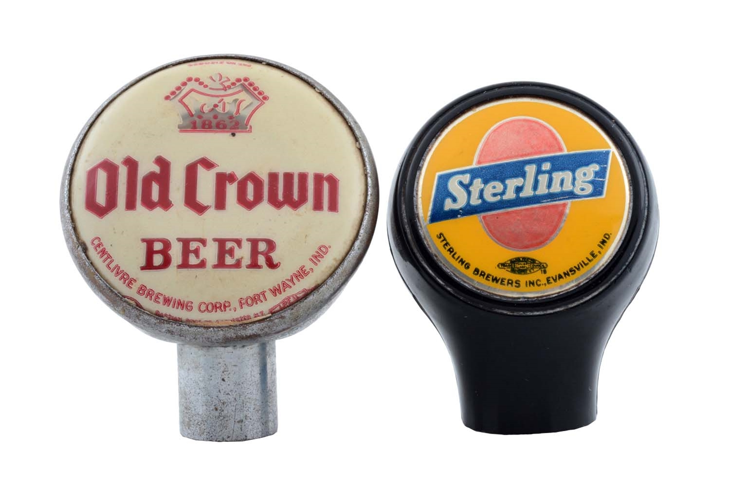 Lot Of 2: Indiana Breweries Tap Knobs.