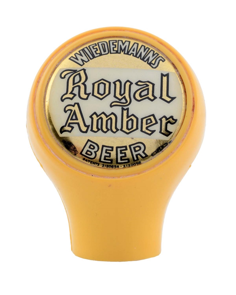 Wiedemanns Royal Amber Beer Tap Knob.