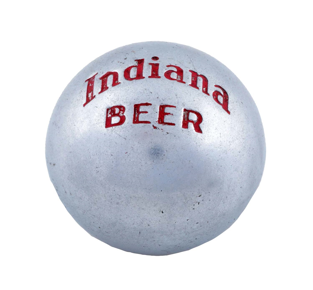 Indiana Beer Polished Metal Tap Knob.