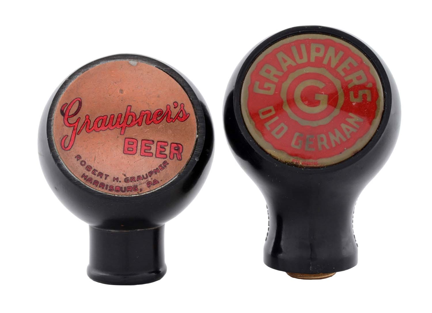 Lot Of 2: Graupners Beer Tap Knobs.