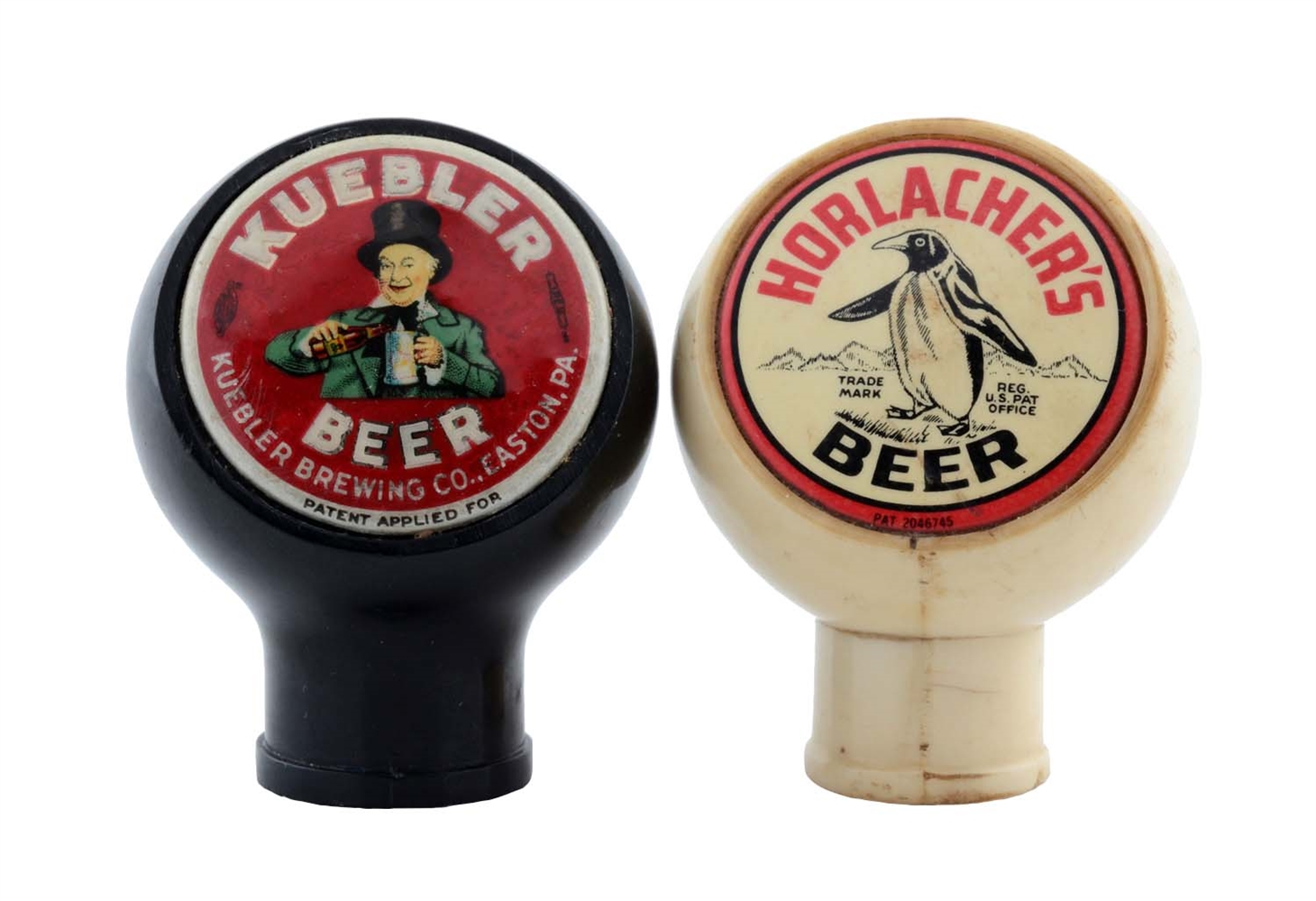 Lot Of 2: Kuebler & Horlachers Beer Tap Knobs.