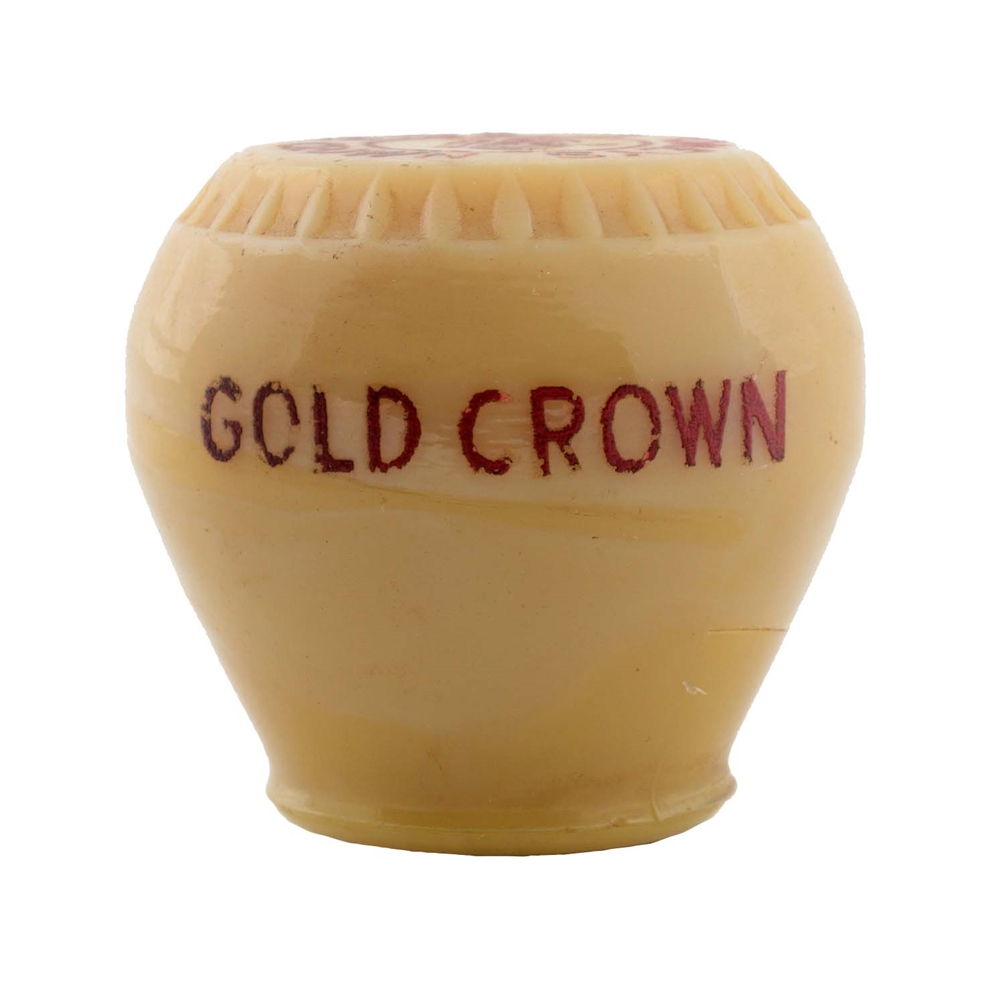 Stoneys Gold Crown Glass Newman Tap Knob.