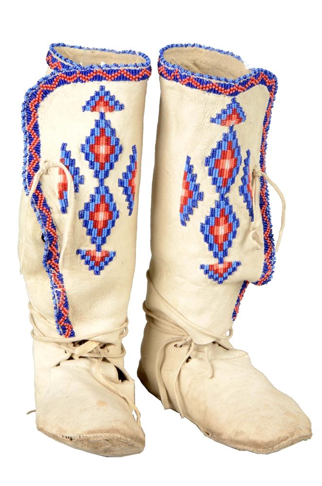 High Top Apache Beaded Moccasins.