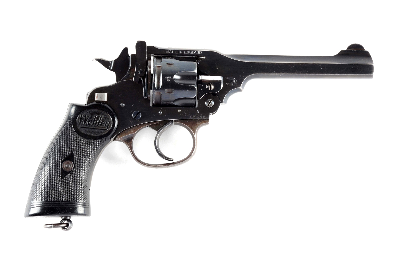(C) Webley Mk IV Singapore Police Force Double Action Revolver.