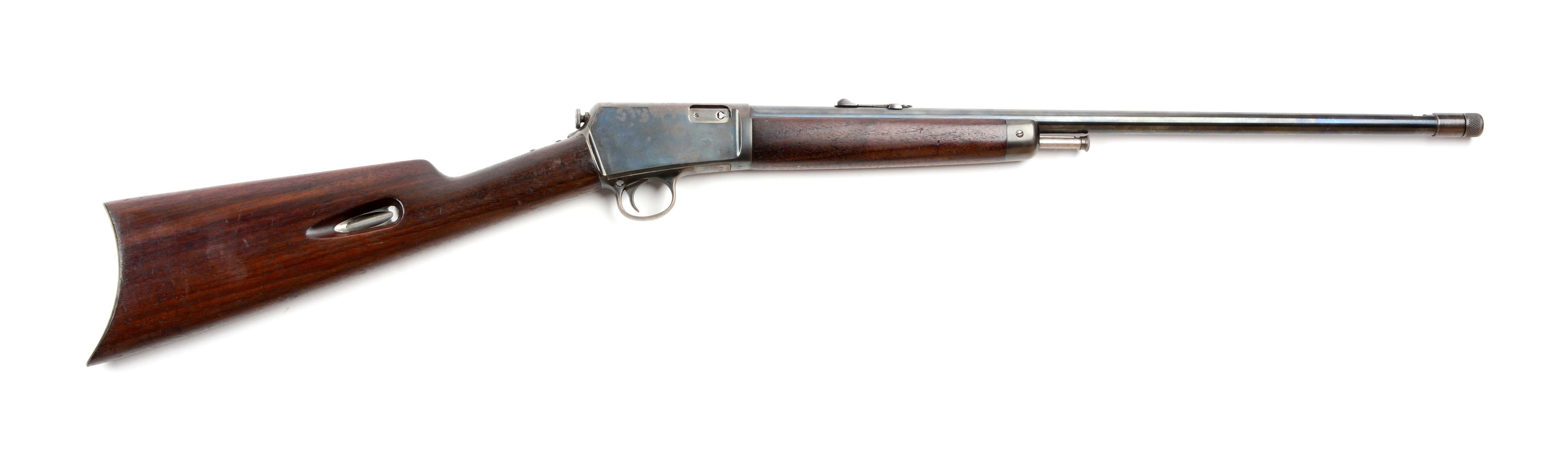 (C) Winchester Model 1903 Semi-Automatic Rifle Threaded For Silencer.