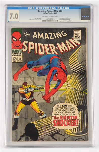 Lot Detail - Amazing Spider-Man #46 CGC 7 0 Off White Pages 1967