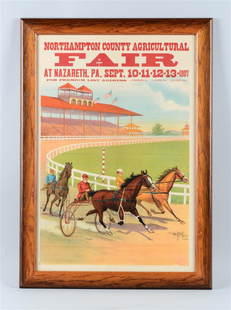 Northampton Fair Advertising Poster from Nazareth, Pa.