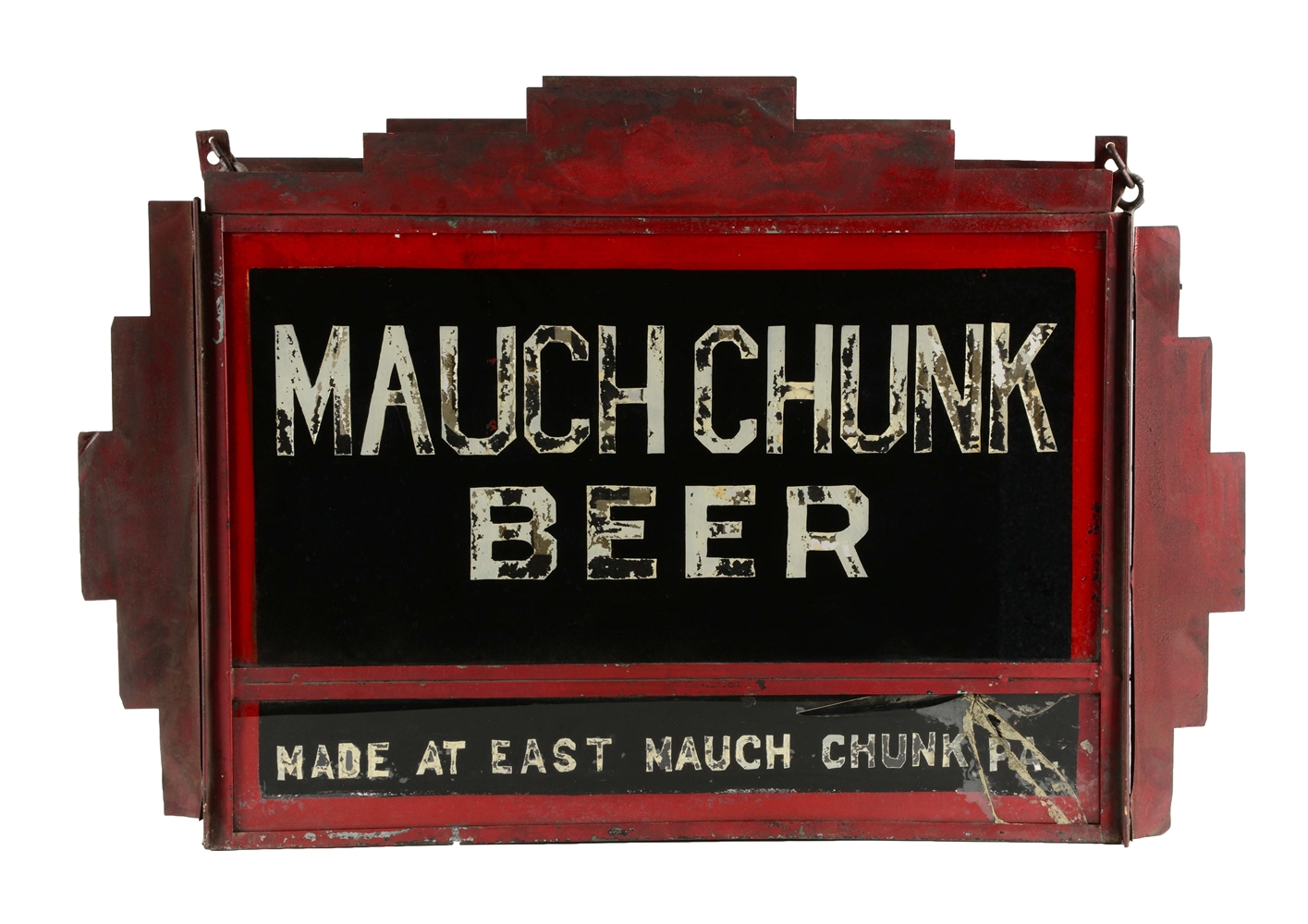 Mauch Chunk Beer Reverse Glass Light Up Sign.