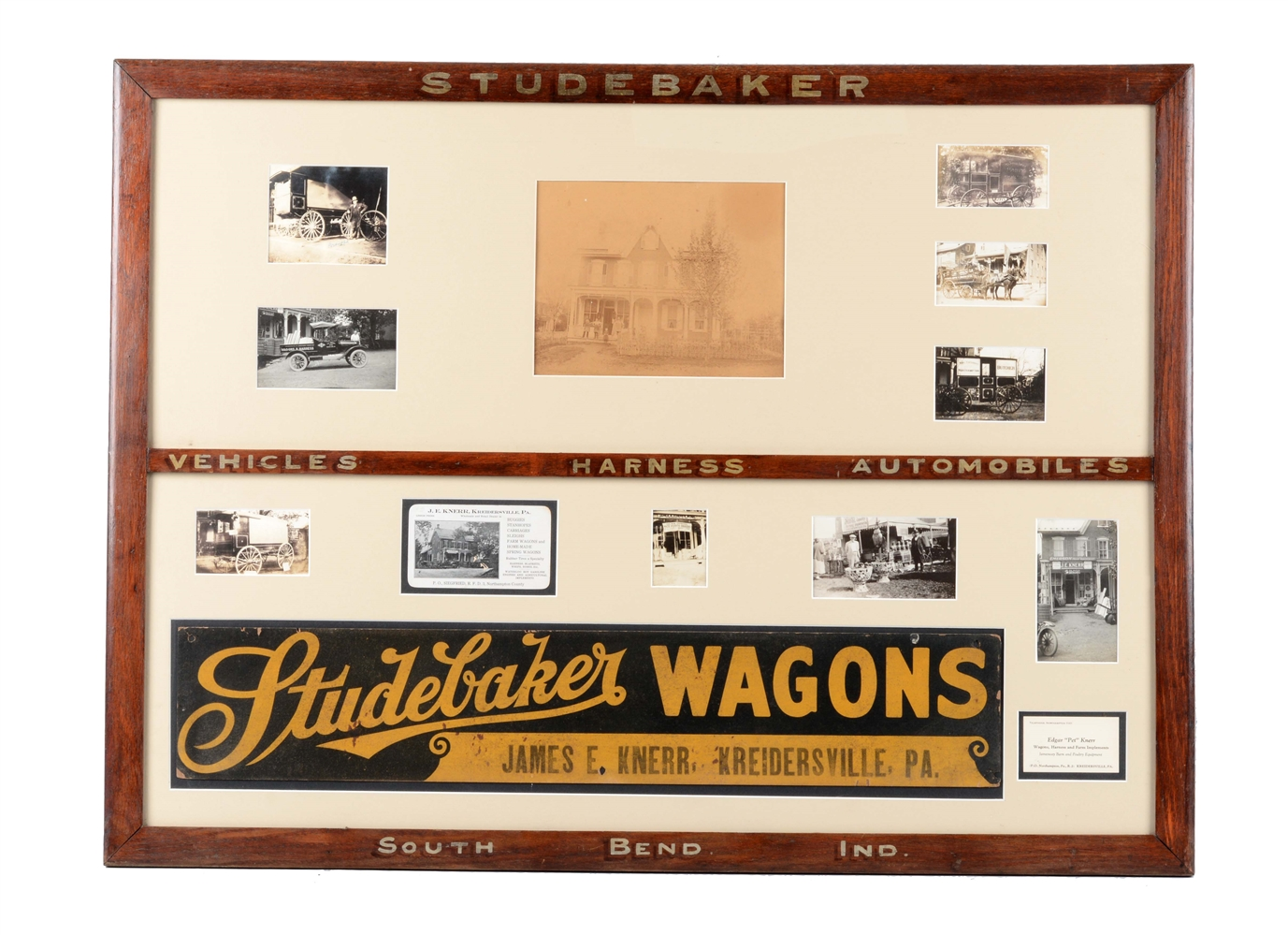 Studebaker Wagons Advertising Sign.