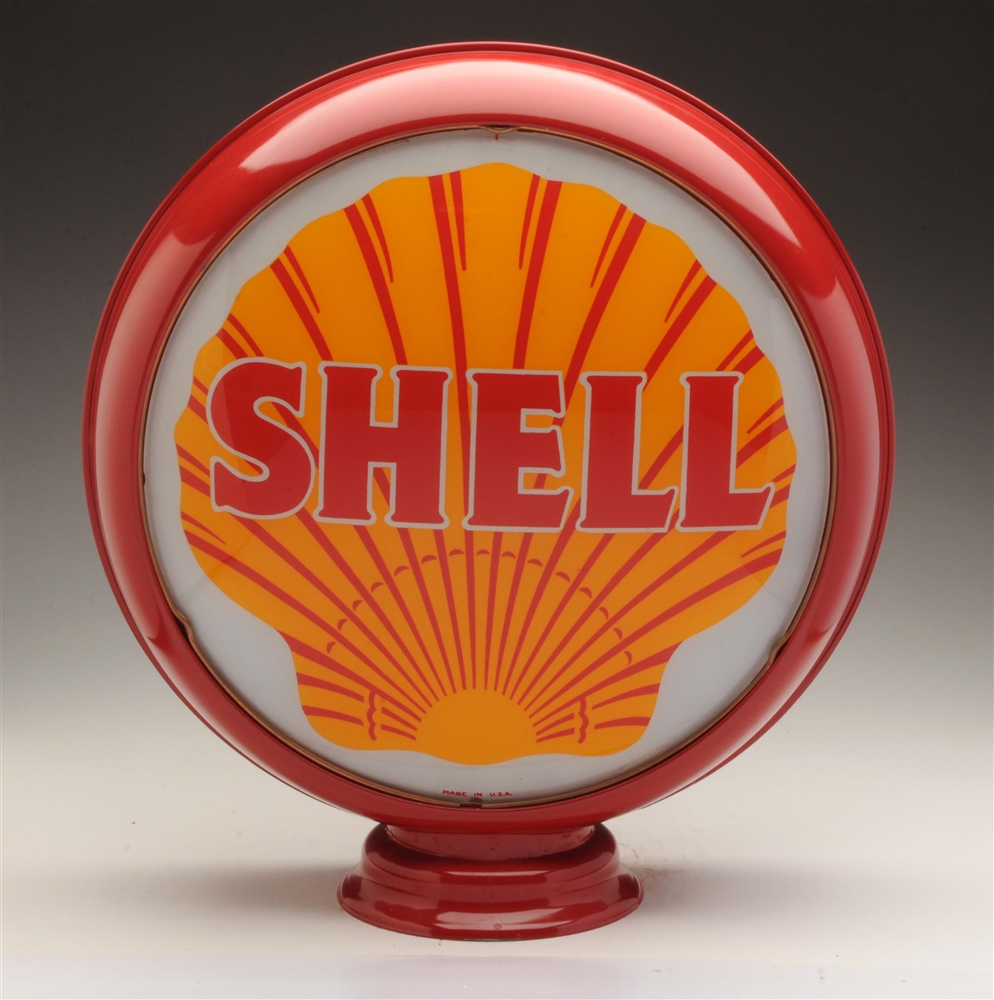 "Shell Gasoline 15"" Single Lens On Original Body."