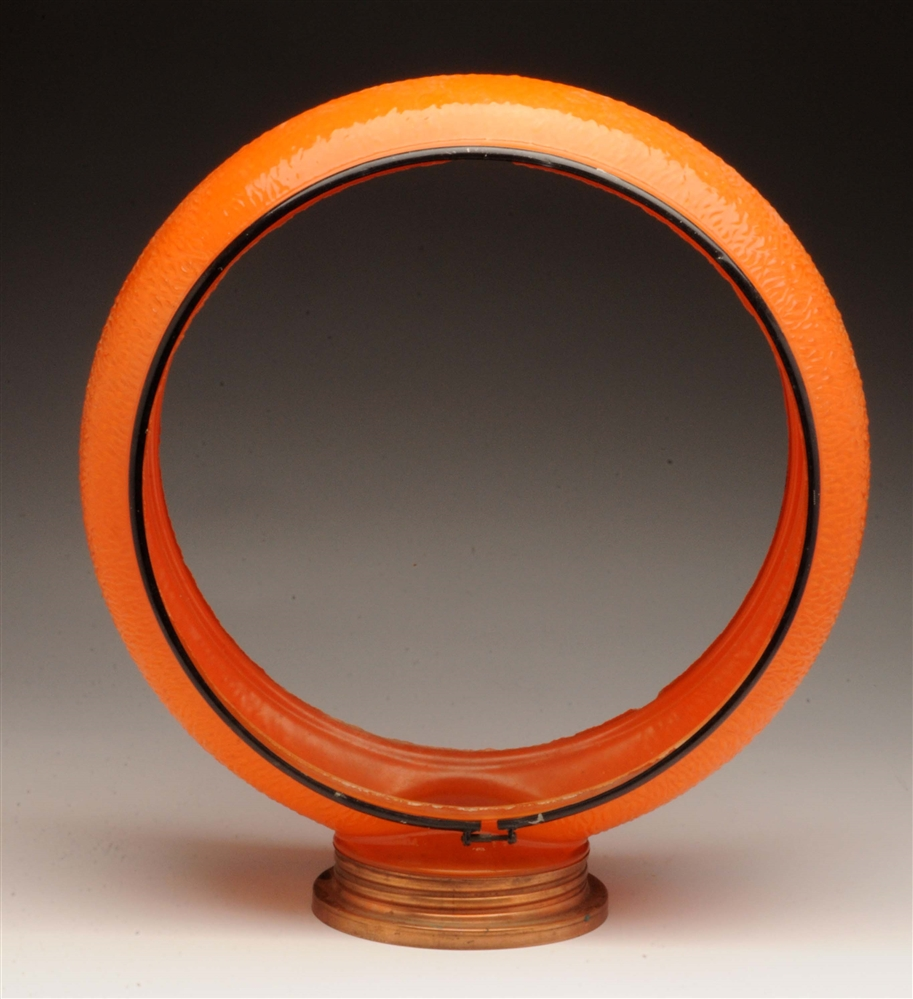 "Original Orange 13-1/2"" Ripple Body w/ Copper Screw Base."