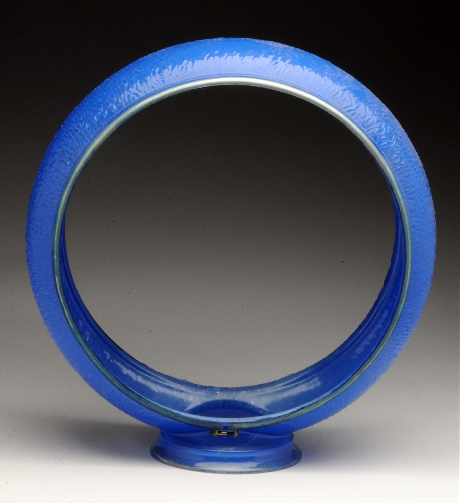 "Very Rare Original Blue 13-1/2"" Ripple Globe Body."