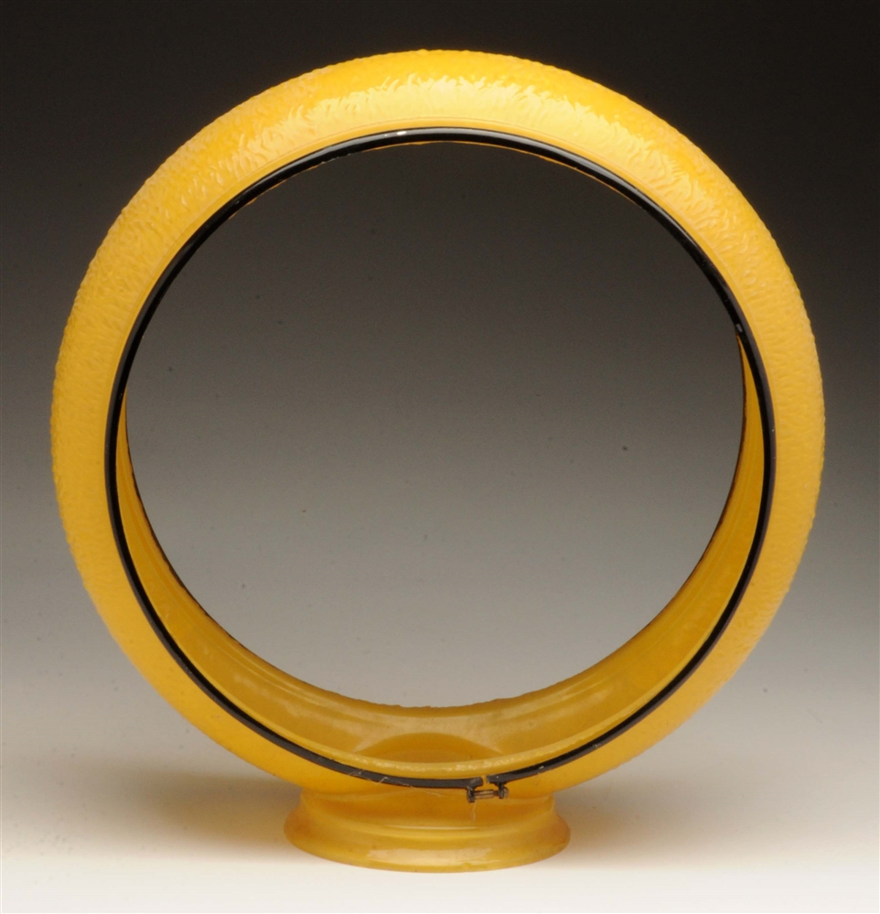 "Original Yellow 13-1/2"" Ripple Globe Body."
