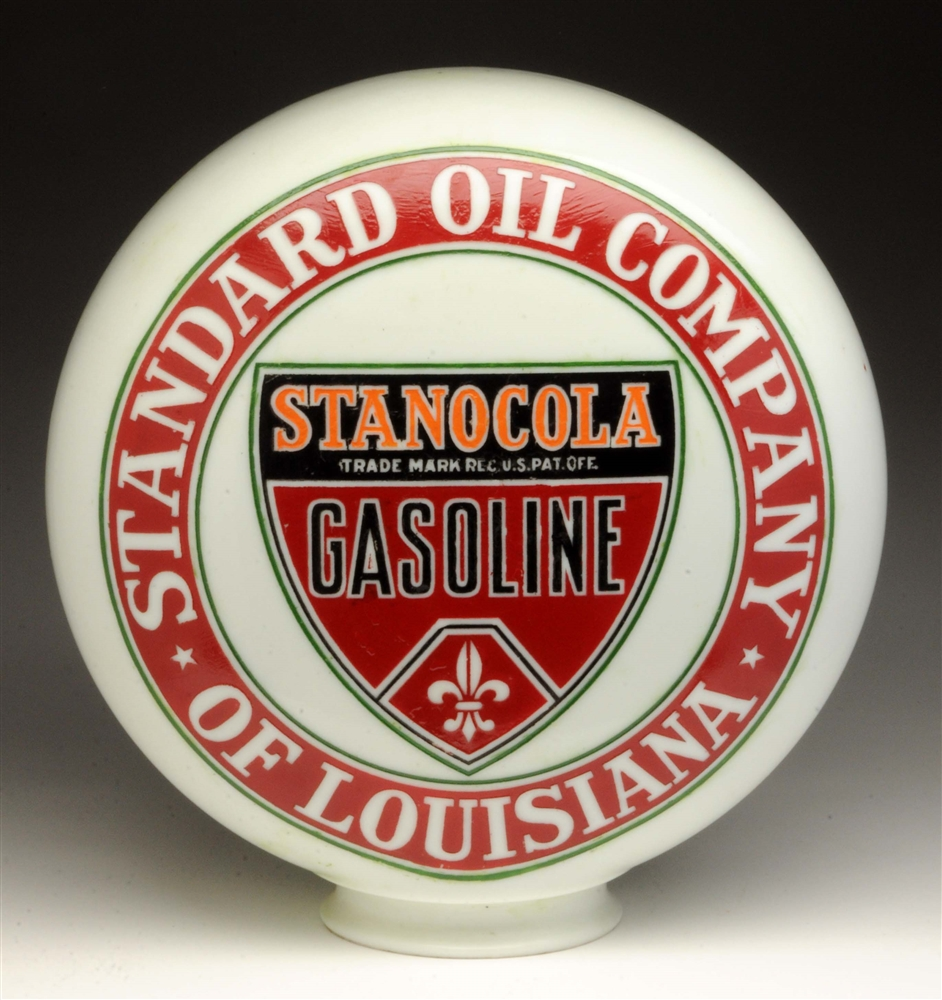 Very Rare Standard Oil of Louisiana Stanocola OPE Globe.