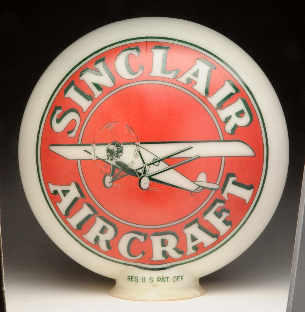 Sinclair Aircraft OPB Globe w/ Airplane Graphics.