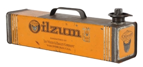Oilzum Motor Oil Under The Seat Half Gallon Can.