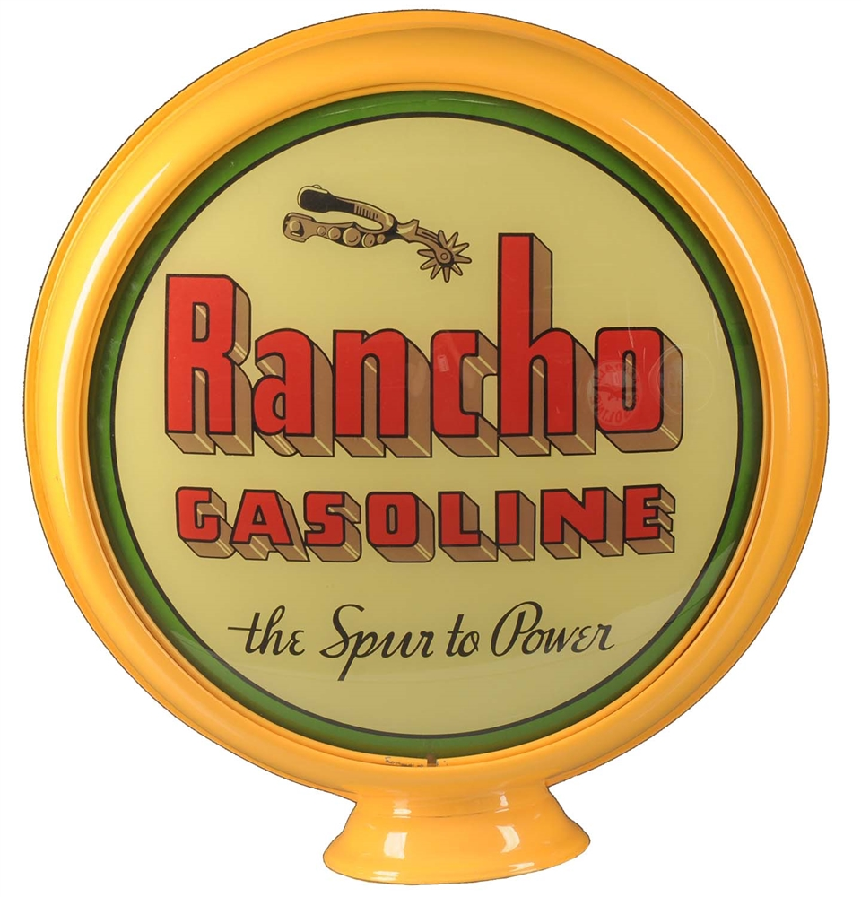 "Rancho Gasoline w/ Spur Graphics 15"" Globe Lenses."