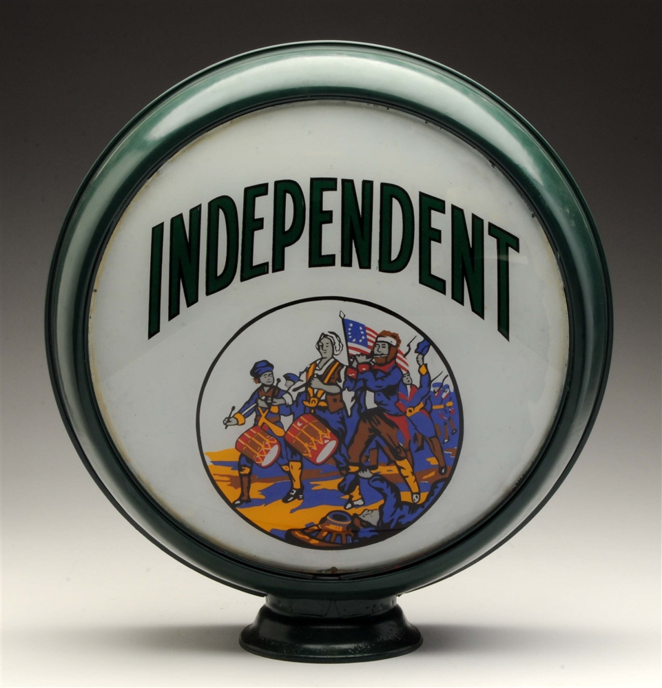 "Independent Gasoline w/ Patriot Graphics 15"" Globe Lenses."