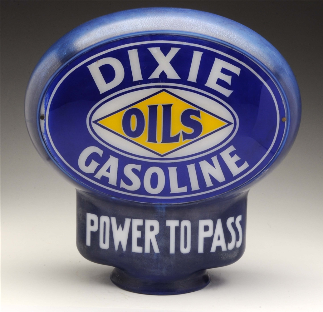 Dixie Gasoline Power To Pass Keyhole Globe Complete.