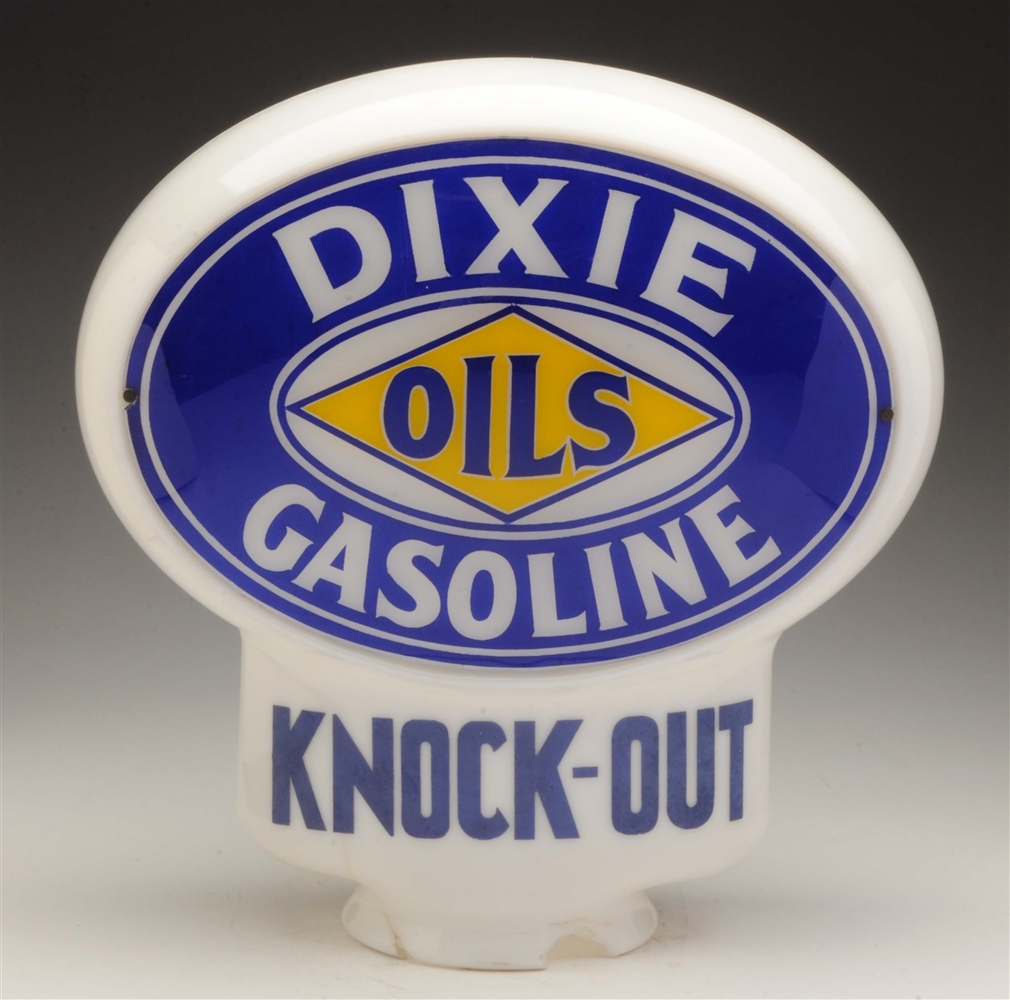 Dixie Gasoline Knock Out Keyhole Globe Complete.