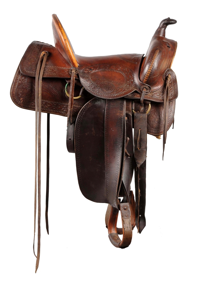 Knox & Tanner Co. Western Full Seat Saddle.